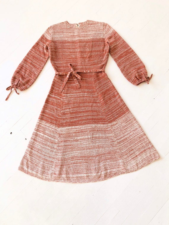 1970s Ombré Knit Dress - image 3