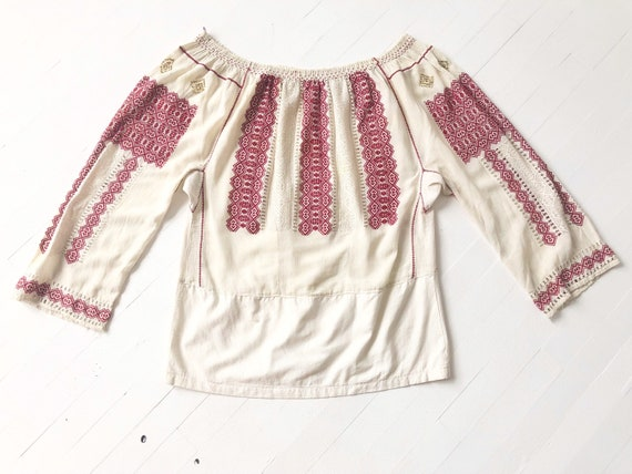 1940s Romanian Embroidered Blouse