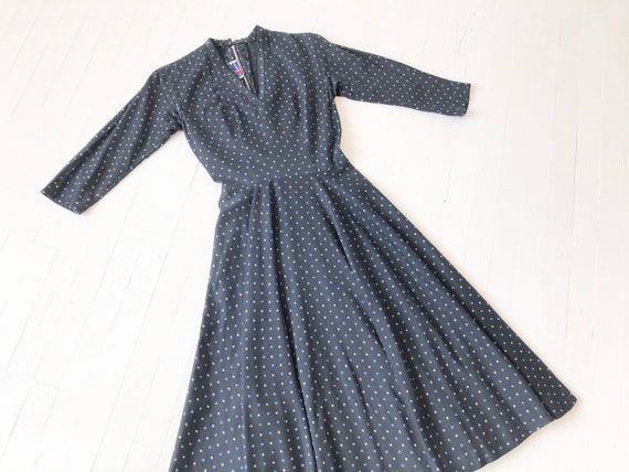 1940s Polka Dot Tea Dress