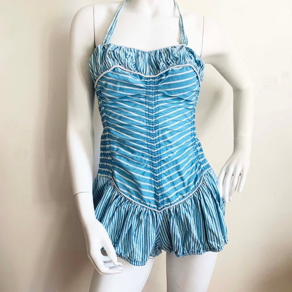 1940s Catalina Striped Swimsuit