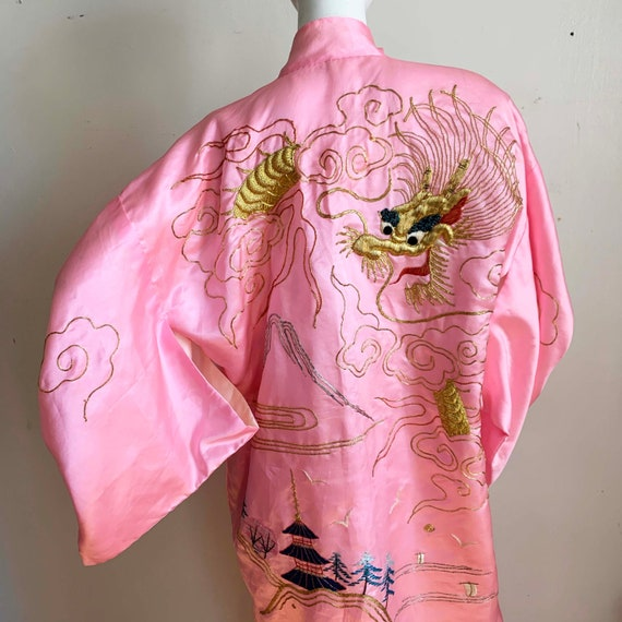 1950s Cotton Candy Dragon Robe
