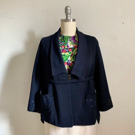 1940s Embroidered Swing Jacket