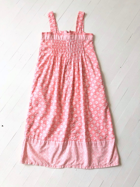 1980s Ramona Rull Pink Printed Cotton Dress - image 4