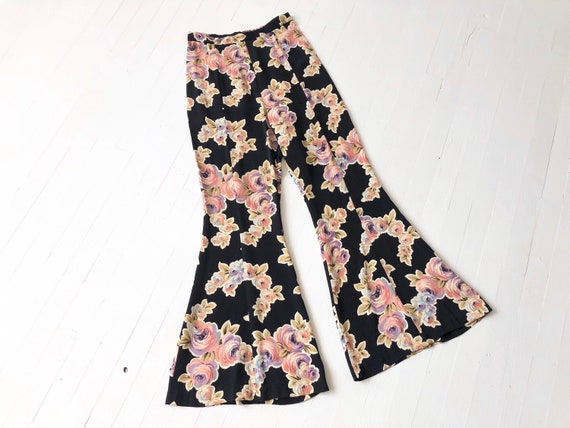 1990s Betsey Johnson Rose Print Pants