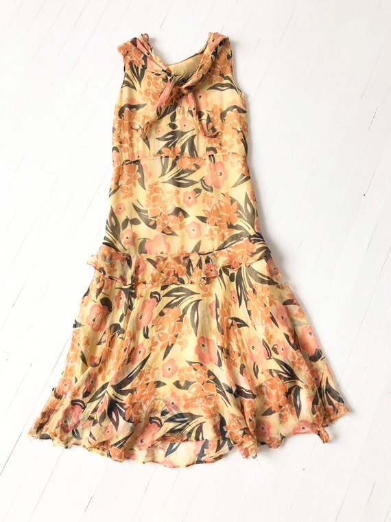 1930s Floral Silk Chiffon Dress AS IS - image 5