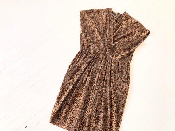 1980s Cheetah Print Dress