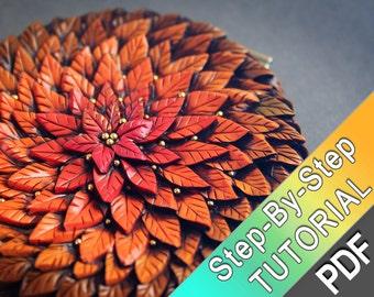 Autumn Leaf  Pattern Tutorial by Mandarin Duck from polymer clay