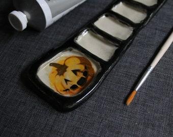 Jack-O-Lantern Paint Palette
