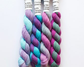 Hand Embroidery Thread - Brodery Cotton Needlecraft Yarn  - Hand Dip Dyed Variegated Colours for Embroidery, Quilting and Needlework