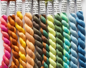Perle 8 Cotton Thread - Hand Dyed Yarn - for Hand Embroidery, Quilting and Needlecrafts. Variegated Shades.