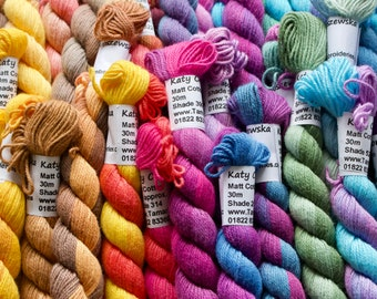 Hand Dyed Matt Cotton Thread for Embroidery and Needlework