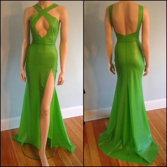 Floor Length Latex Dresses