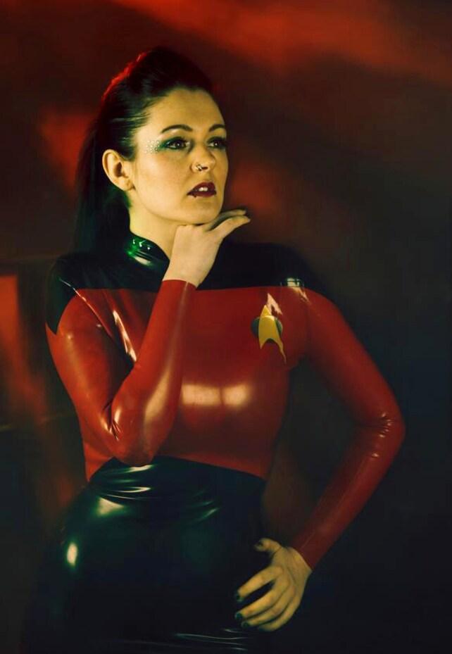 Star Trek inspiriert Gummi Latex Kleid   Etsy