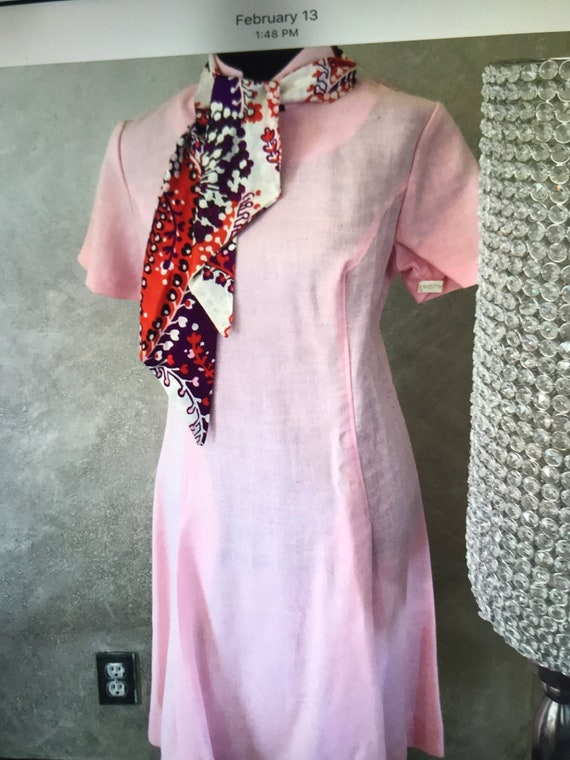 Pink Mode O Day Shaynelle fabric vintage dress