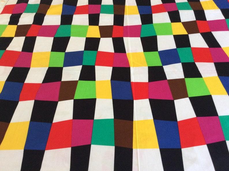 Vintage /'80s John Kaldor Fabric 3 Yards Geometric Design Cotton Unused