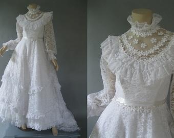 80s Wedding Dress Etsy