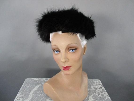 Vintage Schiaparelli Hat, 1950s Beret Style Black