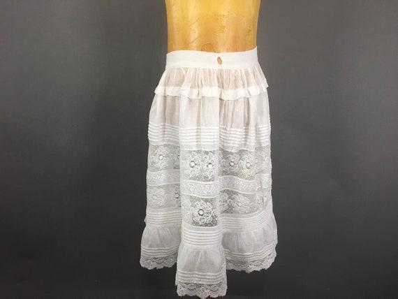 Antique Girls Lace Slip, Edwardian Size 8 Young Gi