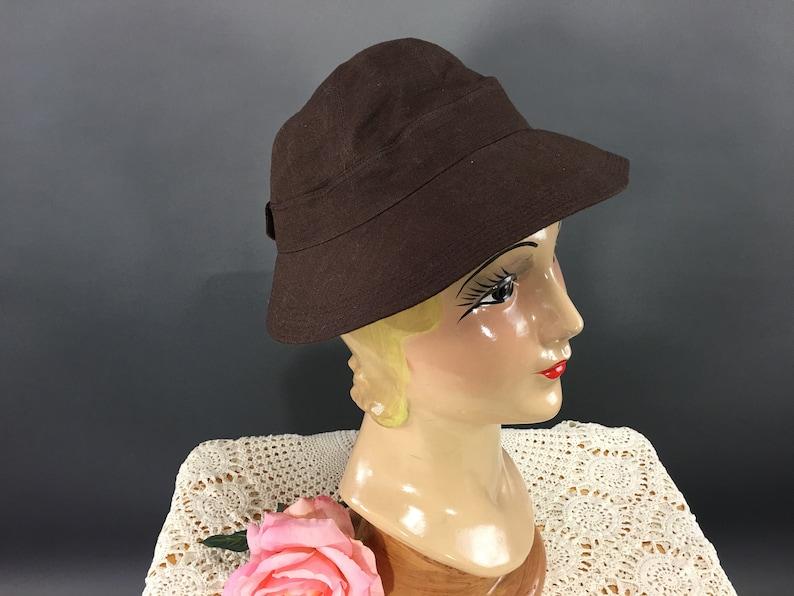76d6c6d24bc97b Vintage Womens Stetson Hat 1950s 60s Brown Cotton Casual Cap | Etsy