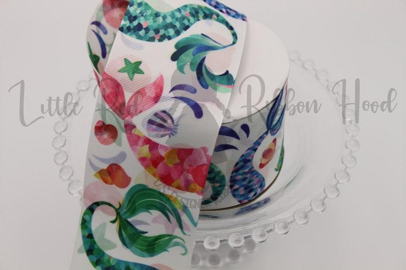 Watercolor Mermaid 3 Grosgrain Ribbon