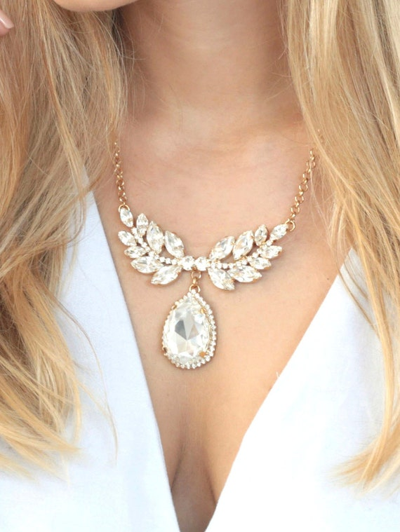 Statement Necklace, Bridal Necklace, Bridal Statement Necklace, Bridal Choker, Bridal Statement Necklace, Choker Crystal Necklace.