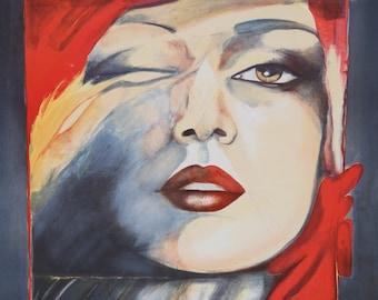 Self-Portrait I by Helene Guetary, Lithograph, 1980
