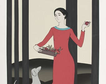 Persephone by Will Barnet Serigraph 1982
