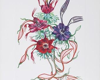 Anenome per Anti-Pasti (Anenome of the Toreador) from Florals by Salvador Dali 1972 Signed