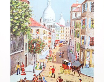 Rue Norvins by Claude Tabet, Lithograph, c. 1975