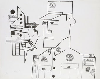 The General by Saul Steinberg from the Peace portfolio 1970