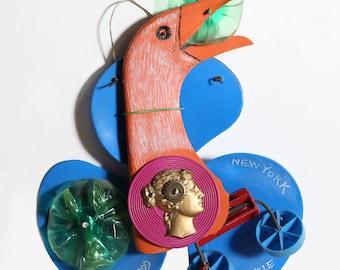 Recycle Bird Found Art Collage by Konstantin Bokov