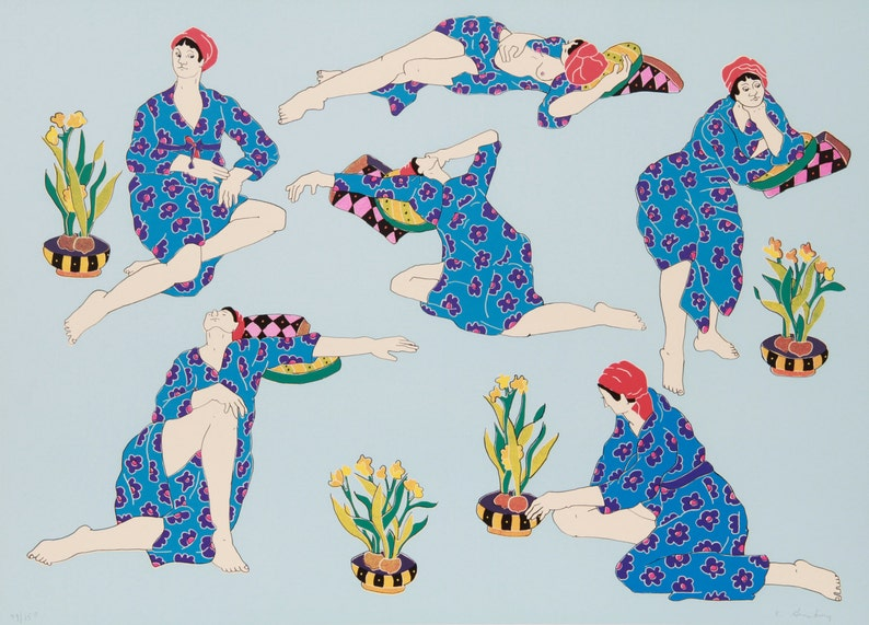 Women in Interior 7 by Estelle Ginsburg Serigraph 1978 image 0