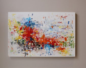 9d7571fe8 colorful abstract painting,red abstract painting painting on canvas, Abstract  painting,Original Painting
