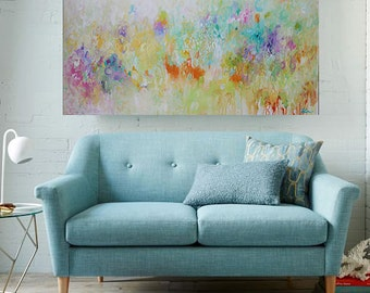 Soft color abstract painting ,contemporary wall art,colorful painting,wall decor ,Home Decor,Acrylic Painting on Canvas