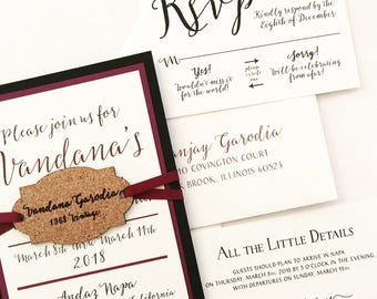 Wine Wedding Invites Etsy