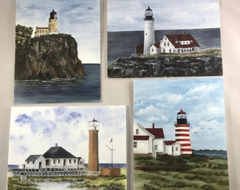 Lighthouse Notecards pack