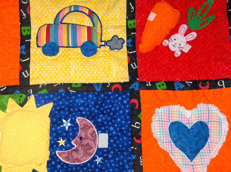 Busy Day Quilt for Toddlers and Infants