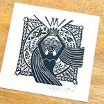 Floral Goddess, Goddess, Witchy Woman, Goddess Art, Lino Print, Floral Art, Mother Earth