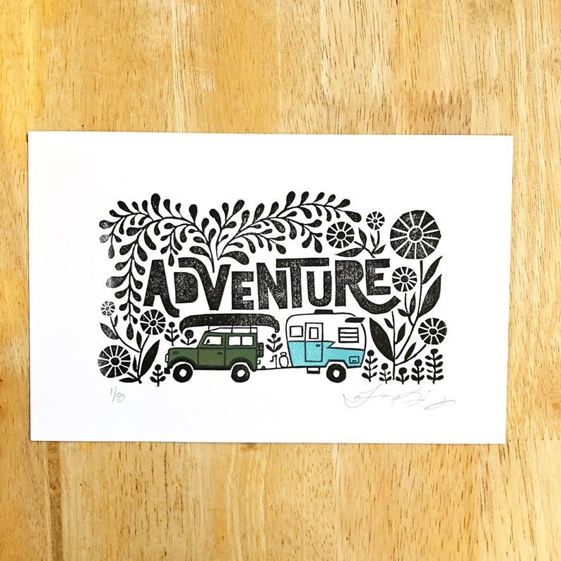 Adventure Art Land Cruiser Art Print 5.5 x 8.5 image 0