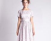 Women Dress, Bridesmaid Dress, Liberty Print Dress, Floral Dress, Laura Ashley Dress, Flare Dress, Floral Wedding Dress, 1950's Clothing,