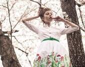 Floral Wedding Dress, Alternative Wedding Dress, 1950's Dress, Boho Wedding Dress, Floral Bridesmaid Dress, Pinup Clothing, Flare Dress