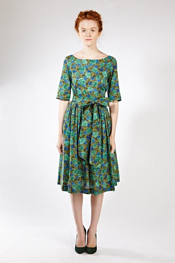 1950 Partei Kleid 1950 Prom Kleid Cocktailkleid grün 1950 grün | Etsy