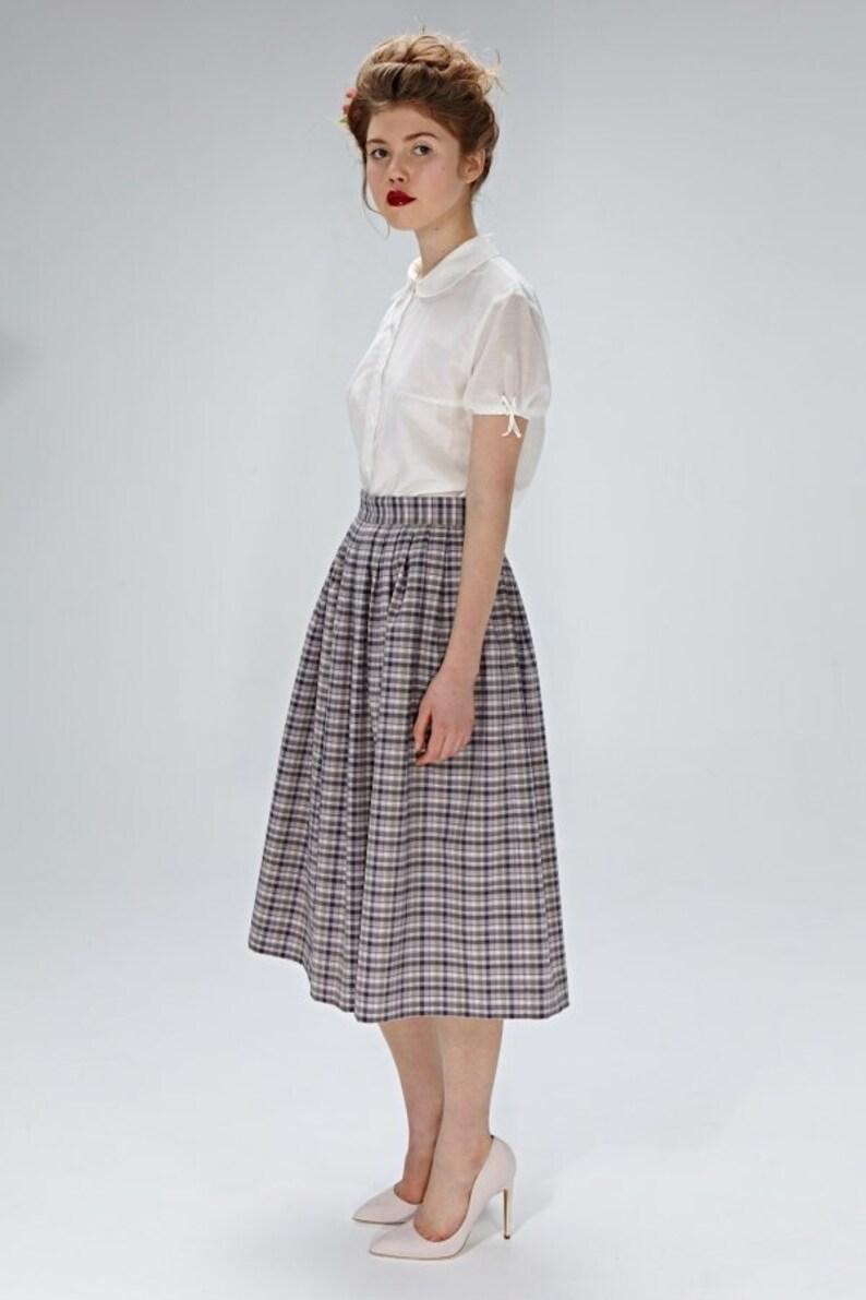 a3fecfb47e1732 Jupe femme, jupe à carreaux, 1950 ' s jupe, jupe Midi, jupe plissée, Flare  jupe, jupe de Style Vintage, jupe d'hiver, jupe en laine, jupe poche