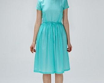 Bohemian dress Bridesmaid dress 1950s dress 50s dress Midi dress Wedding guest dress Open back dress Plus size dress Handmade dress