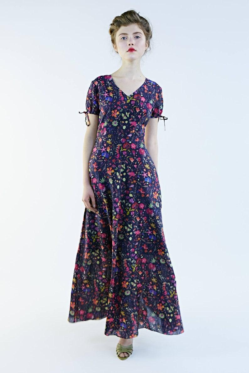 07386c26fd Women Floral Dress, Boho Dress, Maxi Dress, Bridesmaid Dress, Maxi Floral  Dress, Cocktail Dress, Flare Dress, Oversize Dress, A Line Dress