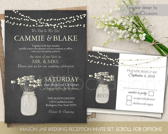 I Do Bbq Wedding Reception Only Invitation Printable Set Etsy