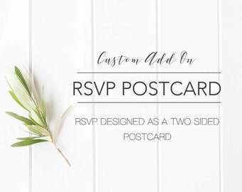 Postcard Set Up Fee | Order with your Wedding Set if you prefer an RSVP Postcard Design- Two Sided Postcard RSVP files will be Sent