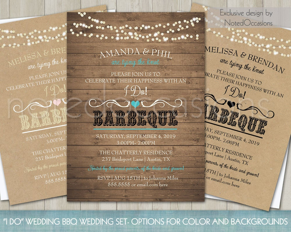 Wedding Reception Invite: Printable I Do BBQ Wedding Reception Invitation Wedding