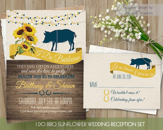 I Do Bbq Wedding Reception Invitation Printable I Do Bbq Etsy