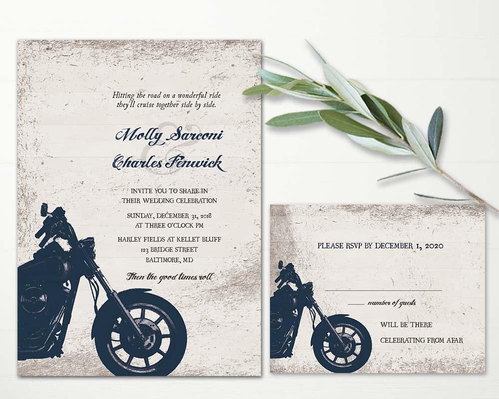 Biker Wedding Invitations: Motorcycle Wedding Invitations Biker Bride Wedding